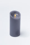 "Luminara 3"" x 6"" Real-Flame Candle - CHARCOAL"