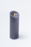 "Luminara 3"" x 8"" Real-Flame Effect Candle - CHARCOAL"