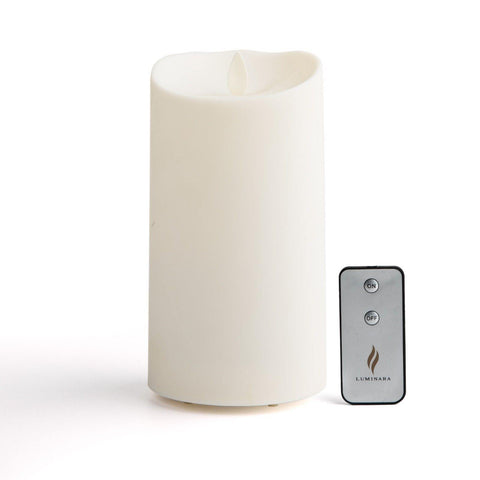 "Luminara 5"" Outdoor Candle w/ Soft-Touch Coating + Remote"