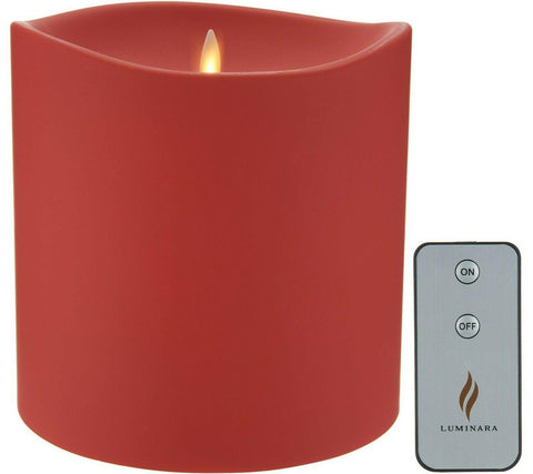 "Luminara 6"" Red Outdoor Candle w/ Remote"
