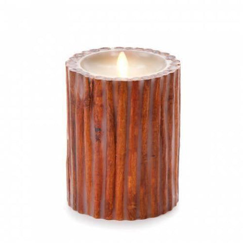 "Luminara 5"" Flameless Candle - Cinnamon Stick Embedded"