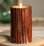 "Luminara 7"" Flameless Candle - Cinnamon Stick Embedded"