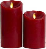 "Luminara 5"" Red Flameless Candle - Cinnamon Scented"
