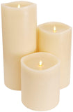 Luminara Large Ivory Flameless Candle w/ 360° Top - 6 x 6""