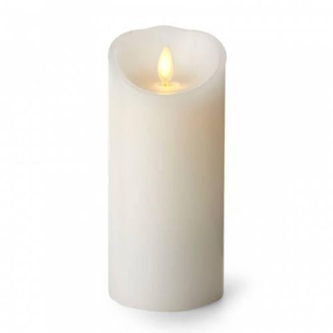 "Luminara 3"" x 8"" Real-Flame Effect Candle - WHITE - The Flameless Candle Shop"