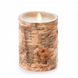 "Luminara 5"" Birch Embedded Flameless Candle - Unscented"