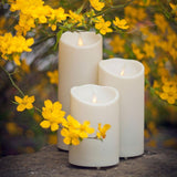 "Luminara 7"" Outdoor Flameless Candle - Ivory"