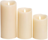 "Luminara 3.5""x 7"" Real-Flame Effect Candle - IVORY + Remote - The Flameless Candle Shop"