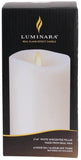 "Luminara 3""x 6"" 360 Flameless Candle - White Unscented"