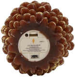 "Luminara 4"" Flameless Pine Cone Candle - Brown Unscented"