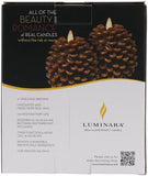 "Luminara 4"" Real-Flame Effect Pinecone Candle - BROWN + Remote - The Flameless Candle Shop"