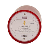 "Luminara 7"" Red Flameless Candle - Cinnamon Scented"