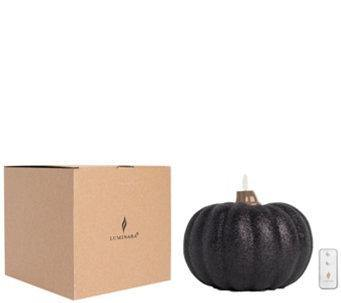 Luminara Pumpkin Glitter Candle - Small Black +Remote