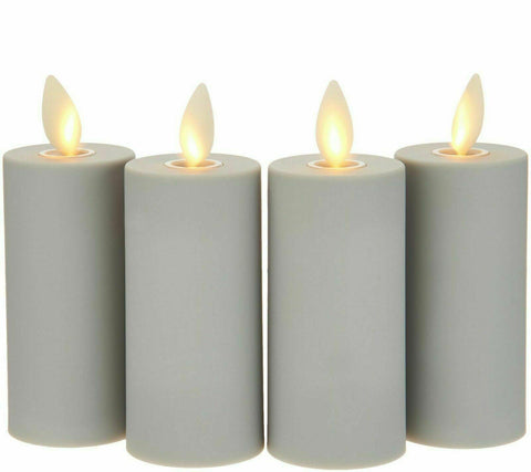 Luminara Flameless Votive 4-Piece Set - Gray w/ Remote