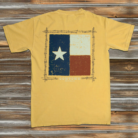 TEXAS FLAG in MUSTARD