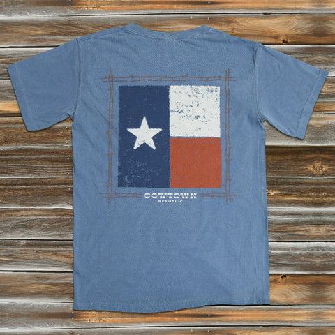 TEXAS FLAG in BLUE JEAN
