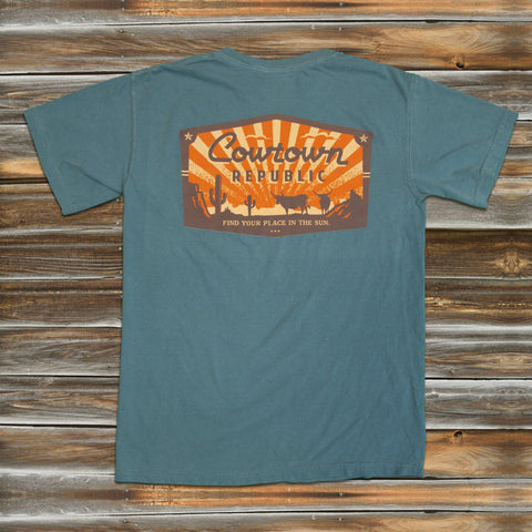 RETRO TEXAS SUN in ICE BLUE