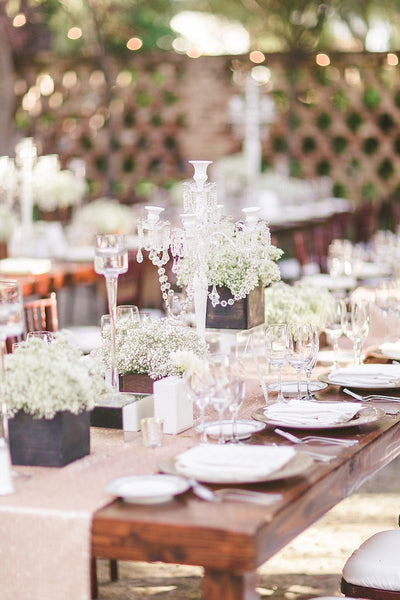 Rustic neutral wedding centerpieces