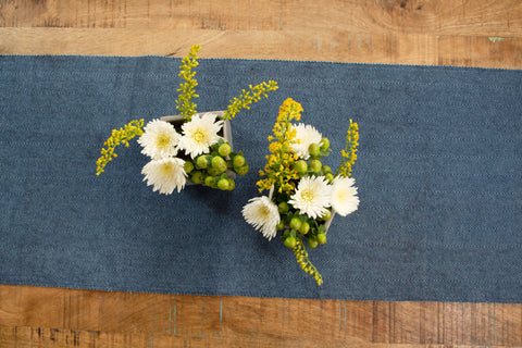 Flower Arrangements on a Table Runner