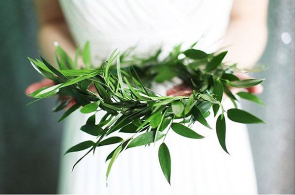 Green wedding flower crown
