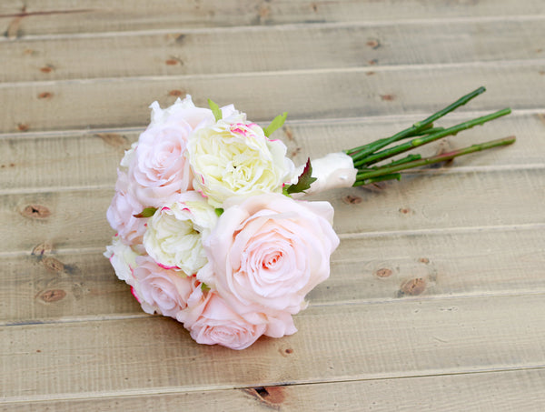 Marmalade Floral Silk Blush and Cream Rose Spring Bouquet