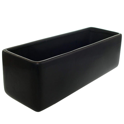 Matte Black Set of 2 Urban Square Vases