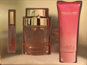 Michael Kors Wonderlust for Women 3-Piece Set: 3.4 oz EDP, .34 oz Rollerball, 3.4 oz Lotion