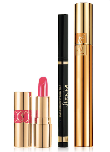 YSL Extravagant Eye Faux Cils Makeup Set: Eyeliner, Mascara, Mini Lipstick