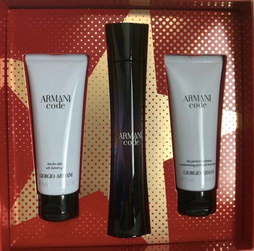 Armani Code Giorgio Armani Women 3 Piece Set: 2.5 oz Eau de Parfum, Shower Gel and Body Lotion