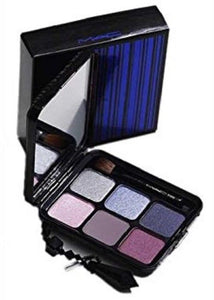 MAC Pleat Collection Eye Shadow Palette (6 Cool Eyes) w/Brush (213SE) - FragranceAndBeauty.com