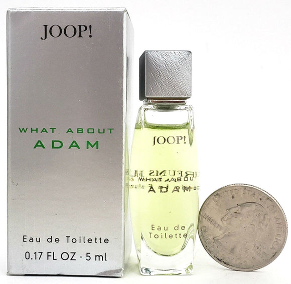 What About Adam by Joop! for Men 5 ml/.17 oz Eau de Toilette Mini Splash - FragranceAndBeauty.com