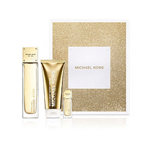 Michael Kors Sexy Amber  Women 3-Piece Set: 3.4 oz EDP + .24 oz EDP Mini + 3.4 oz Indulgent Creme - FragranceAndBeauty.com
