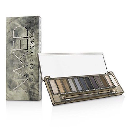 Urban Decay Naked Smoky 12 Colors Palette with Dual Ended Brush Full Size - FragranceAndBeauty.com