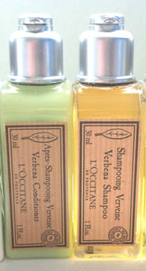 L'Occitane En Provence Verbena Shampoo + Conditioner 1 oz Travel Size - FragranceAndBeauty.com