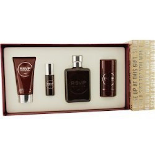 RSVP Kenneth Cole Men 4-Piece Set: 3.4oz EDT+2.6oz Deo+2.5 A/S Balm+.5 EDT - FragranceAndBeauty.com
