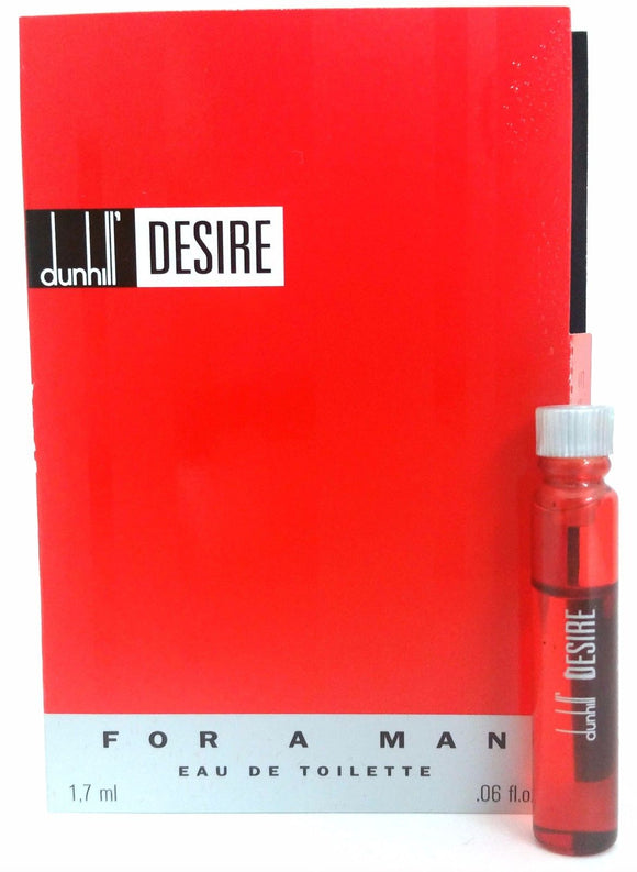 Desire Red by Alfred Dunhill for Men 1.7 ml/.06 oz each Eau de Toilette Splash Vial (Lot of 4) - FragranceAndBeauty.com