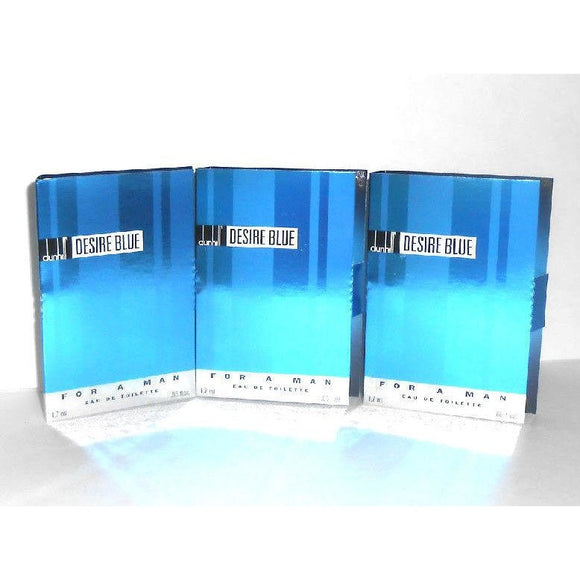 Desire Blue by Alfred Dunhill for Men 1.7 ml/.06 oz each Eau de Toilette Splash Vial (Lot of 3) - FragranceAndBeauty.com