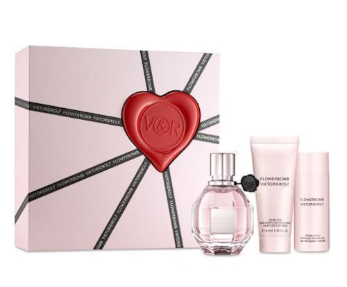Flowerbomb Viktor & Rolf Women 3-Piece Set: 1.7oz EDP, 1.7oz Gel, 1.3oz Cream - FragranceAndBeauty.com