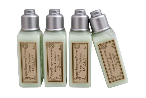 L'Occitane En Provence Verbena Conditioner 1 oz each Travel/Sample Size (Lot of 4) - FragranceAndBeauty.com