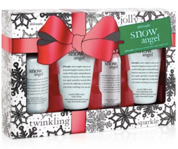 Philosophy Snow Angel Collection 4-Piece Set: Shower Gel, Lotion, Polish, Spritz