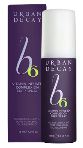 Urban Decay B6 Vitamin-Infused Complexion Prep Spray 4 oz Redness Reducing Pore Minimizing Oil Absorbing