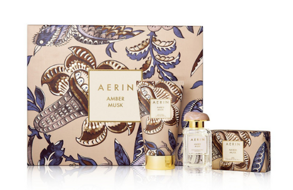 AERIN Amber Musk Women 3-Piece Set: 1.7 oz Eau de Parfum Spray, 5 oz Body Creme, Soap