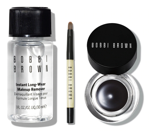 Bobbi Brown The Original Long-Wear Gel Eyeliner To Go 3-Piece Set: Gel Eyeliner, Brush, Remover