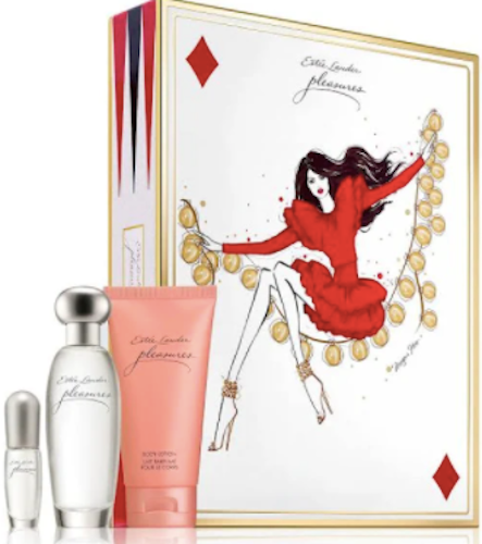 Estee Lauder Pleasures To Go for Women 3-Piece Set: 1.7 oz Eau de Parfum Spray, 2.5 oz Body Lotion, .14 oz Spray Mini