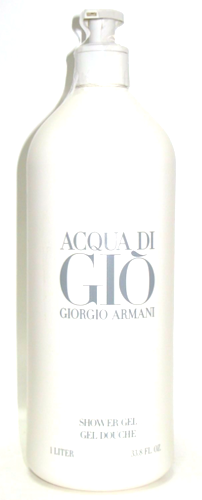 Acqua Di Gio by Giorgio Armani for Men 33.8 oz (LITER) Jumbo Shower Gel