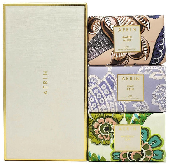 Aerin by Estee Lauder for Women 3 Pc Set: 176 g/6.2 oz each Perfumed Soaps - FragranceAndBeauty.com