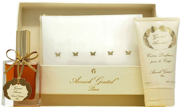 Grand Amour Annick Goutal Women Love Letters Coffret Set: 1 oz EDP, 2.5 oz Creme and Notecards - FragranceAndBeauty.com