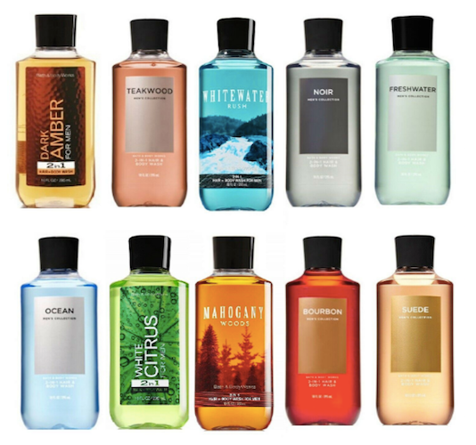 Bath & Body Works for Men 2-in-1 Hair + Body Wash (Select Fragrance) 10 oz