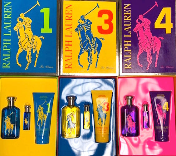 Big Pony Collection by Ralph Lauren for Women (Select 1) 3-Piece Set 3.4 oz Eau de Toilette Spray + .34 oz Purse Spray + 6.7 oz Body Lotion