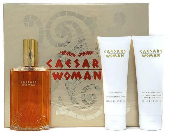 Caesars Woman (Vintage) Caesars World Women 3pc Set: 3.3oz Extravagant Cologne, Lotion + Shower Gel - FragranceAndBeauty.com